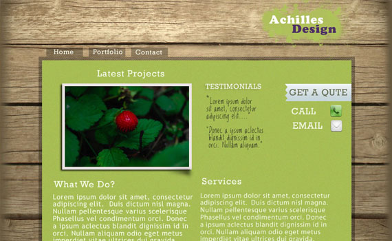 Create-wooden-background-website-in-photoshop-web-design-layout-tutorials-from-2010