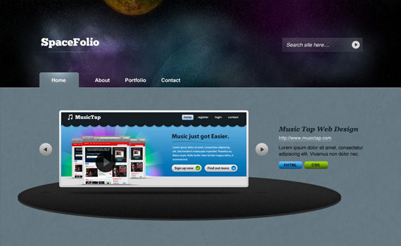 Deep-in-space-portfolio-in-photoshop-web-design-layout-tutorials-from-2010