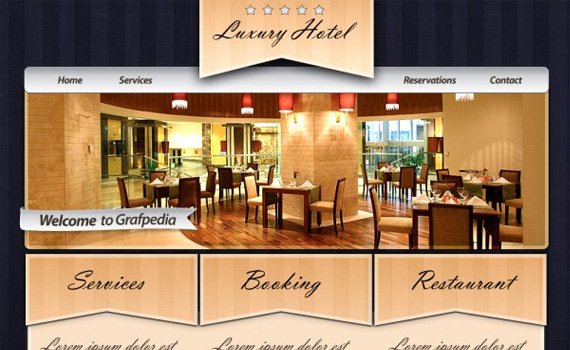 Design-elegant-rustic-for-hotels-restaurants-web-design-layout-tutorials-from-2010