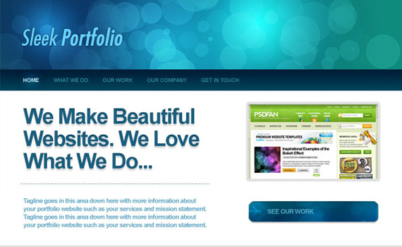 Design-sleek-bokeh-styled-portfolio-web-design-layout-tutorials-from-2010