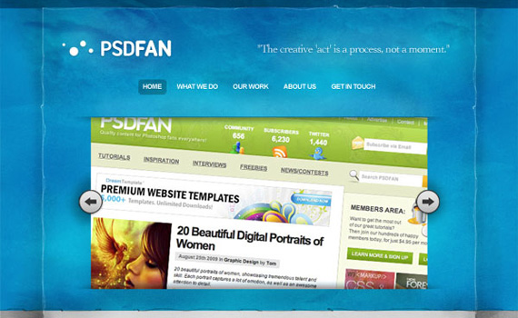 Design-sleek-textured-blue-portfolio-web-design-layout-tutorials-from-2010