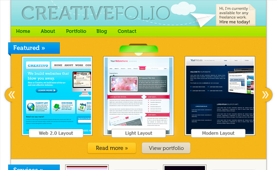 How-to-make-vibrant-portfolio-in-photoshop-web-design-layout-tutorials-from-2010