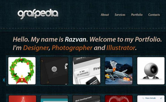 Portfolio-created-with-jeans-texture-web-design-layout-tutorials-from-2010