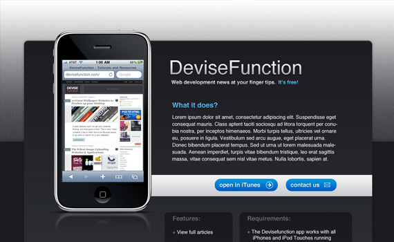 Simple-iphone-application-website-in-photoshop-web-design-layout-tutorials-from-2010