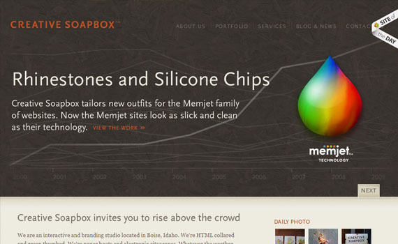 Creative-soapbox-looking-textured-websites