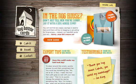 Dog-house-cards-looking-textured-websites