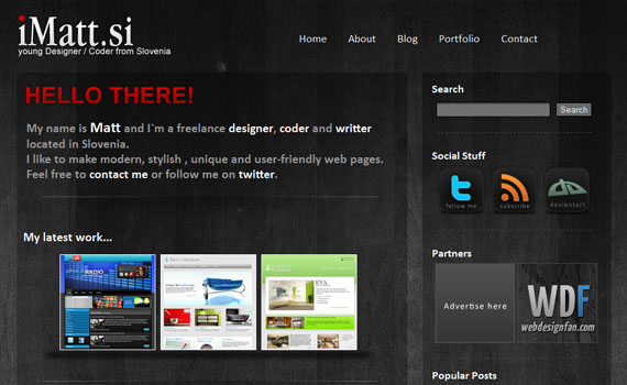 Imatt-looking-textured-websites