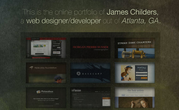 James-childers-portfolio-looking-textured-websites