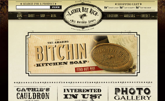 Lather-bee-rich-looking-textured-websites
