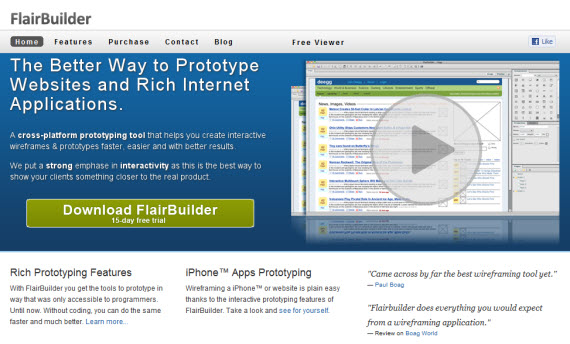 Flairbuilder-free-premium-wireframing-webdesign-tools