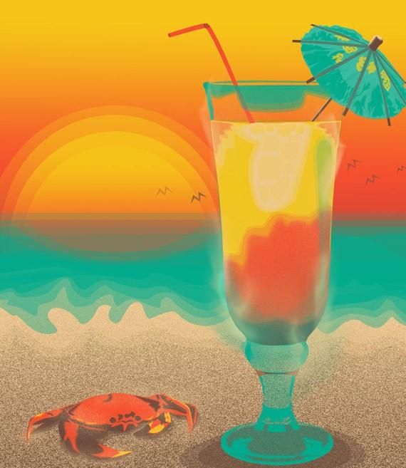 Яркий летний постер