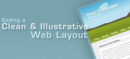 Coding a Clean & Illustrative Web Design from Scratch