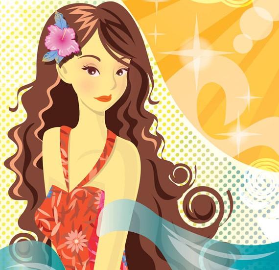 Иллюстрация с девушкой