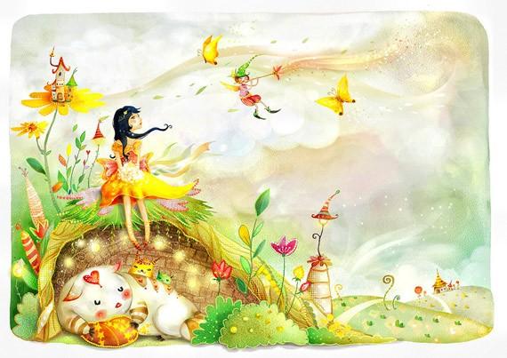 Сказочная летняя иллюстрация