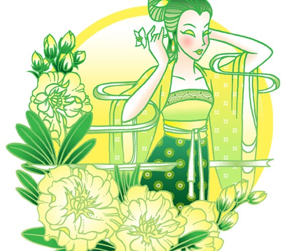 Иллюстрация в восточном стиле