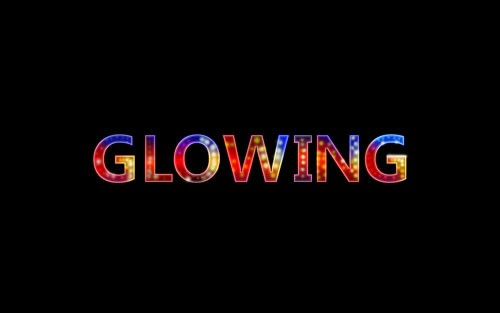 21 colorful glowing neon text effect