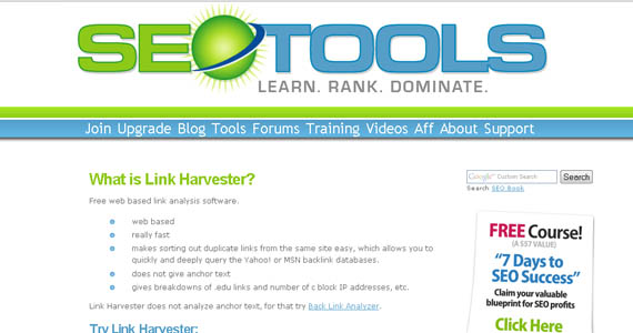better online visibility with link harvester