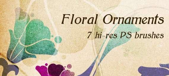 30 Must Have Floral Brushes for Photoshop