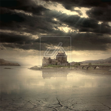 Castle-of-calm-river-creatively-thrilling-photo-manipulations