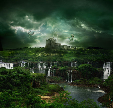Waterfall-city-creatively-thrilling-photo-manipulations