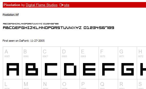 pixelation-free-pixel-fonts