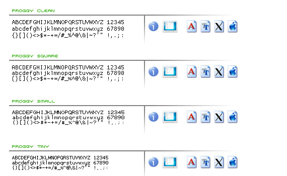 proggy-free-pixel-fonts