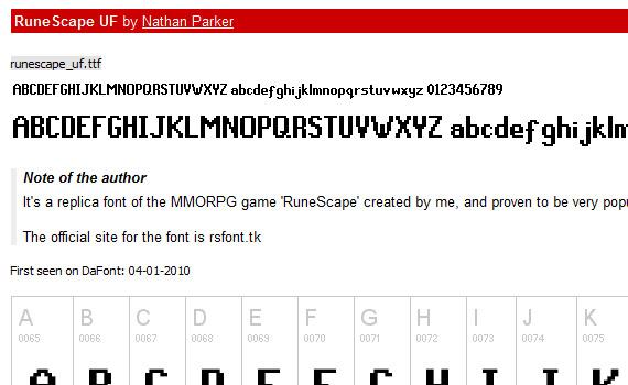 runescape-uf-free-pixel-fonts