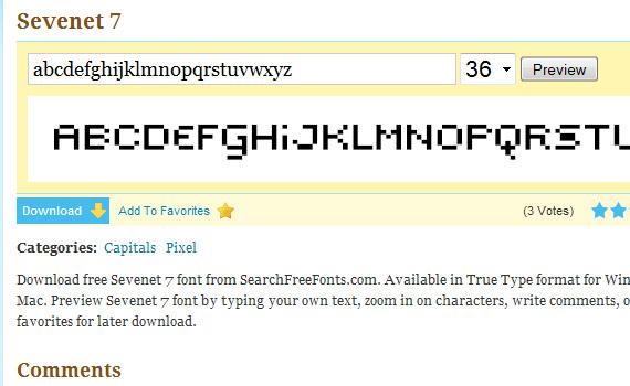 sevenet-free-pixel-fonts