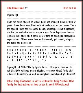 silky-wonderland-free-pixel-fonts
