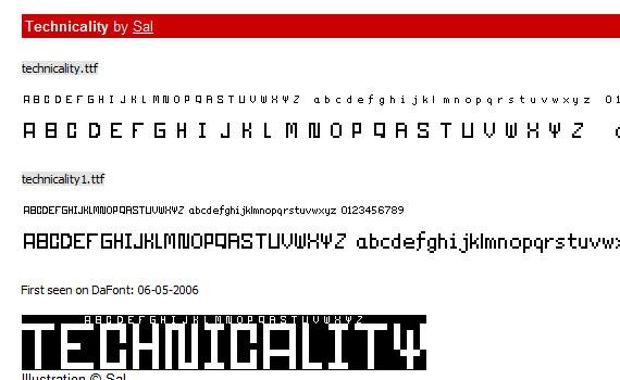 Technicality-pixel-free-pixel-fonts