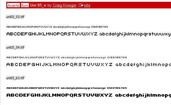 uni-free-pixel-fonts