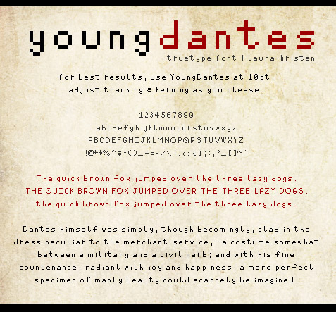 young-dates-free-pixel-fonts
