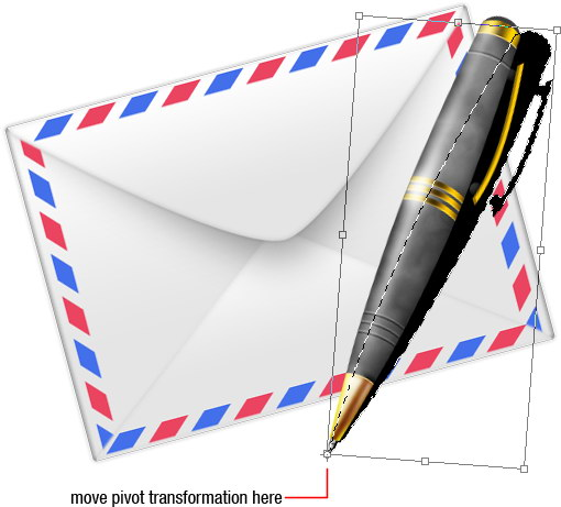 tutorial photoshop draw pen and envelope