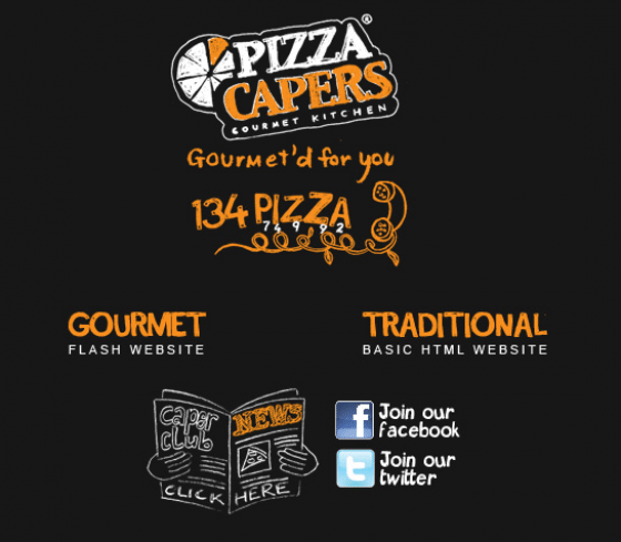 Confusing menus - pizzacaper.com.au