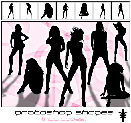 Hot-babes-free-photoshop-custom-shapes