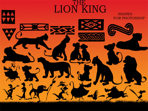 Lion-king-free-photoshop-custom-shapes