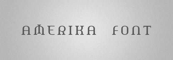 Amerika-creative-decorative-free-font