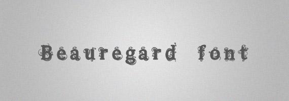 Beauregard-creative-decorative-free-font