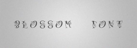 Blossom-creative-decorative-free-font