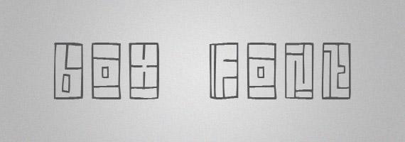 Box-creative-decorative-free-font