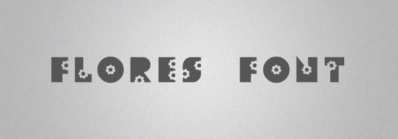 Flores-creative-decorative-free-font