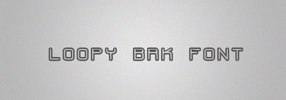 Loopy-brk-creative-decorative-free-font