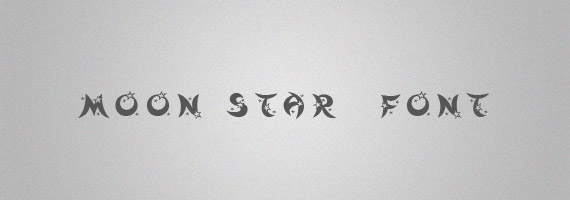 Moon-star-creative-decorative-free-font