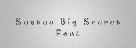 Santas-secret-creative-decorative-free-font