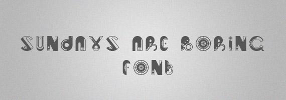 Sundays-creative-decorative-free-font