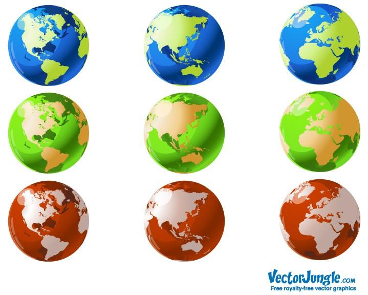 world globe logo