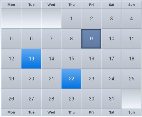 30 Plugin Jquery Calendar H4nk Blogs