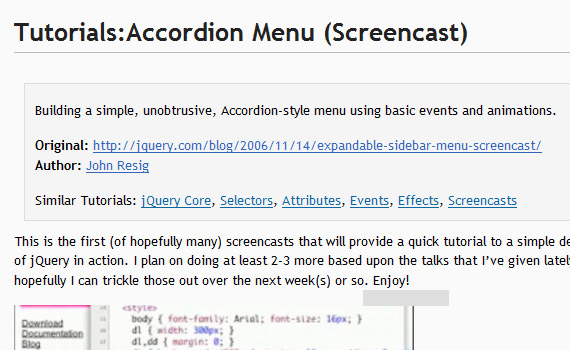 Screencast-tutorial-jquery-accordion-menus-resources-tutorials-examples
