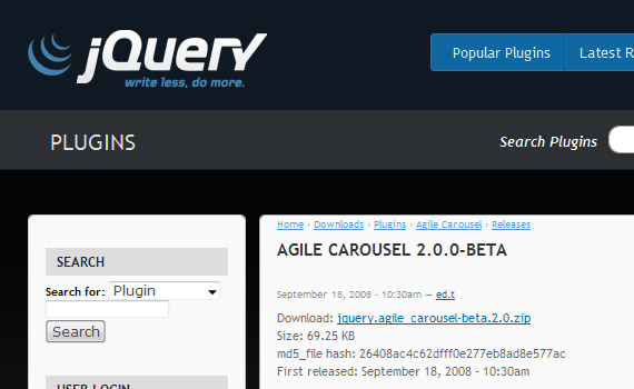 Agile-beta--jquery-carousel-plugins-resources-tutorials-examples