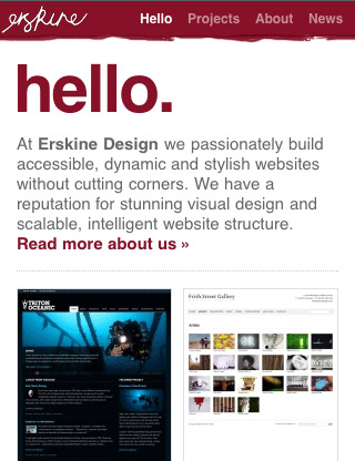 Erskine-mobile-web-design-showcase